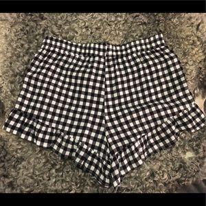 Forever 21 Shorts - *New* Forever 21 Gingham Soft Fringe Shorts